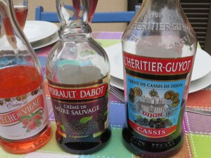 A selection of these liqueurs at the home of our friends in Lozere